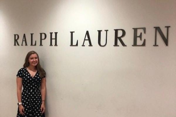 Julia interning at Ralph Lauren